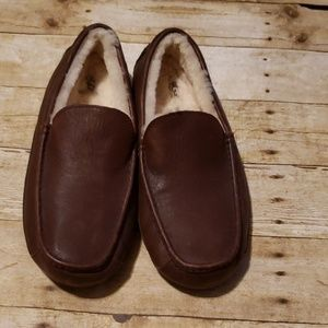 Men Leather Ugg Slippers